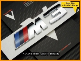 BMW 3 Serisi Orjinal M3 Bagaj Yazı Logo Amblem