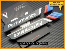 BMW M Performance Logo Amblem Seti
