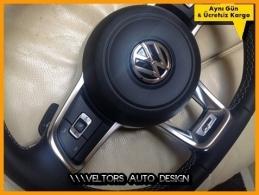 VW R Line R Direksiyon Logo Amblem