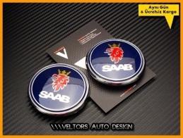 Saab Kaput Bagaj Logo Amblem Seti