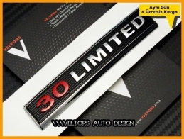 VW Orjinal 3.0 Limited Araç Logo Amblem