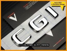 Mercedes CGI / cgi Bagaj Yazı Logo Amblem