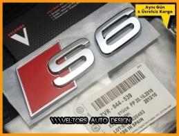 Audi A6 S Line S6 Bagaj Yazı Logo Amblem