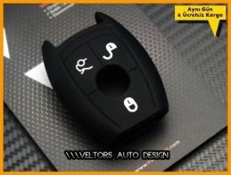 Mercedes Silikon Anahtar Koruma Kabı Kılıfı Logo Amblem