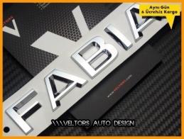 Skoda Fabia Bagaj Yazı Logo Amblem