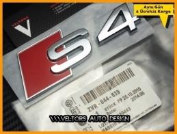 Audi A4 S Line S4 Bagaj Yazı Logo Amblem