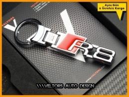Audi A8 Logo Amblem R8 Özel Krom Anahtarlık