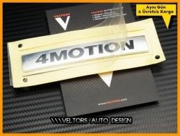 VW 4 Motion Bagaj Yazı Logo Amblem