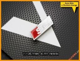 Audi S Line Direksiyon Logo Amblem