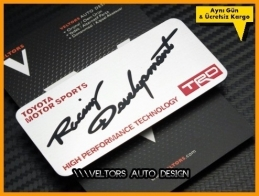 Toyota Motor Sports Art Plaket Logo Amblem