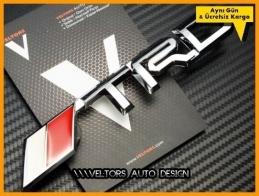 Toyota TRD Ön Izgara Yazı Logo Amblem