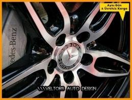 Mercedes Siyah Orjinal Jant Göbeği Göbek Kapak Seti