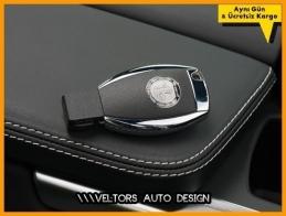 Mercedes AMG Logo Amblem Anahtar Kumanda Kabı Eklenti