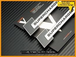 Porsche Orjinal Supercharged Logo Amblem Seti