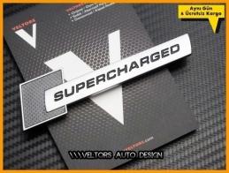 Audi Orjinal Supercharged Bagaj Logo Amblem