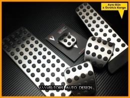 Mercedes AMG Logo Amblem Manuel Pedal Seti