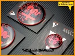 Alfa Romeo Ön Kaput Arka Bagaj Direksiyon Logo Amblem Seti