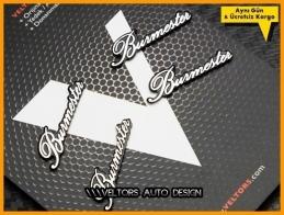Mercedes Burmester Hoparlör Stereo Logo Amblem Seti