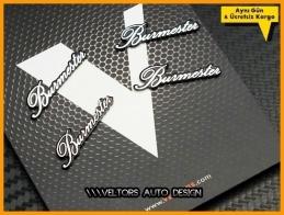 Porsche Burmester Hoparlör Stereo Logo Amblem Seti