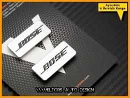 Mini BOSE Hoparlör Stereo Logo Amblem Seti