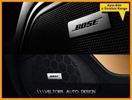 Porsche BOSE Hoparlör Stereo Logo Amblem Seti