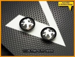 Peugeot Anahtarlık Kumanda Anahtar Logo Amblem Seti