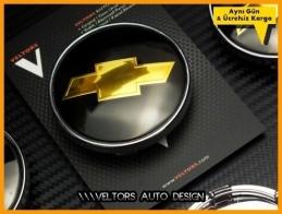 Chevrolet Logo Amblem Jant Göbeği Göbek Kapak Seti