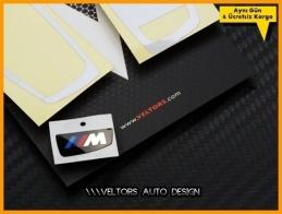BMW M Anahtarlık Kumanda Çerçeve Logo Amblem Seti