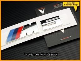 BMW 5 Serisi M5 Bagaj Yazı Logo Amblem