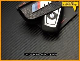 BMW Gerçek Deri M Logo Amblem Anahtarlık
