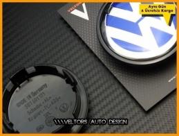 VW Mavi Logo Amblem Jant Göbeği Göbek Kapak Seti