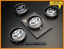 Toyota Logo Amblem Jant Göbeği Göbek Kapak Seti