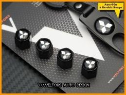 Mitsubishi Logo Amblem Anahtarlık Sibop Kapak Seti