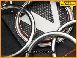 Audi A3 Serisi Gri Klima Halka Çerçeve Seti