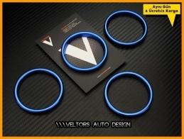 Audi A3 Serisi Mavi Klima Halka Çerçeve Seti
