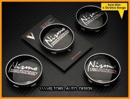Nissan Nismo Logo Amblem Jant Göbeği Göbek Kapak Seti