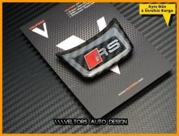 Audi Carbon RS Direksiyon Logo Amblem