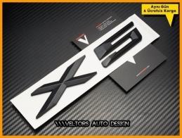 BMW X5 Black / Siyah Bagaj Yazı Logo Amblem
