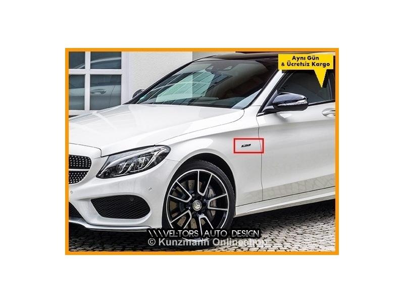Mercedes AMG Yan Çamurluk Logo Amblem Seti
