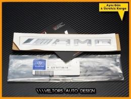 Mercedes  Yeni Nesil Orjinal AMG Bagaj Yazı Logo Amblem