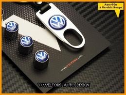 VW Logo Amblem Anahtarlık Sibop Kapak Seti