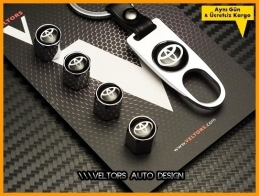 Toyota Logo Amblem Anahtarlık Sibop Kapak Seti