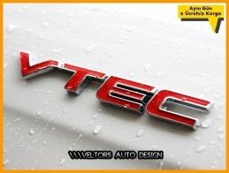 Honda vtec Araç Bagaj Yazı Logo Amblem