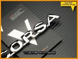 Opel Corsa  Bagaj Yazı Logo Amblem