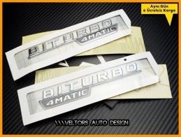 Mercedes BiTurbo 4 Matic Logo Amblem Seti