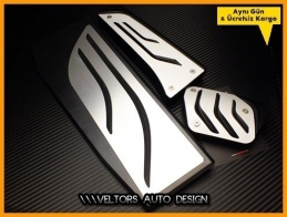 BMW F32 F33 F36 4 Serisi M Logo Amblem Geçmeli Otomatik Pedal Seti