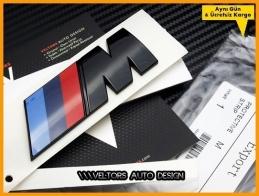 BMW Orijinal  Piano Black M Bagaj Yazı Logo Amblem