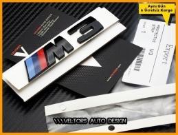 BMW 3 Serisi Orijinal Piano Black M3 Bagaj Yazı Logo Amblem