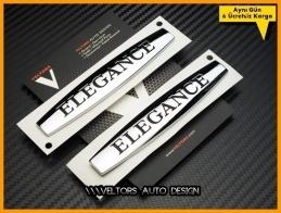 Mercedes Orijinal Elegance Yan Logo Amblem Seti