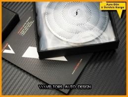 Mercedes W205 C Class Burmester Hoparlor Stereo Kapak Logo Amblem Seti